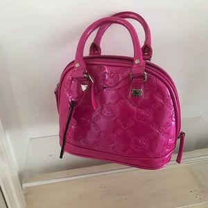 "Hello Kitty Hot Pink Handbag 10"""